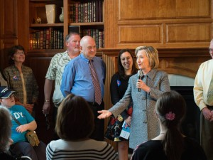 Fireside chat in Mason City, Iowa. (Posted by Hillary Clinton)