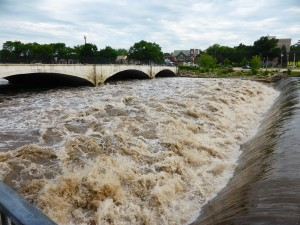 Dam in downtown Charles City at the Cedar River