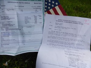 Patrick Joyce produced a title to his 1973 mobile home and an eviction letter from Gracious Estates.  He says it woud cost up to $10,000 or more to move the 42-year-old trailer, money he does not have.