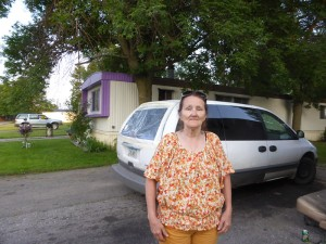 Next-door neighbor Sharon Beek, who says the Joyce family has been fine neighbors.