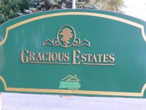 Gracious Estates as you enter the park