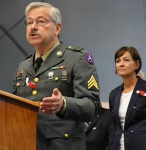 Governor in uniform