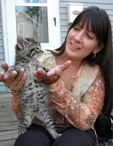 Jeani Luitjens of Mason City with a rescued kitten back in 2011