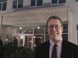 State Senator Rob Hogg in Mason City