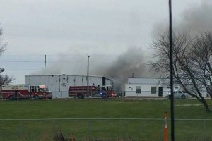 Fire at NTI in Clear Lake