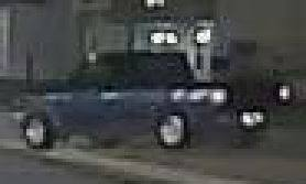 SUSPECT VEHICLE: A blue Ford truck
