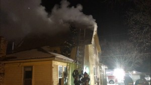 House fire January 14, 2016 in Clear Lake (Clear Lake Fire Department photo)