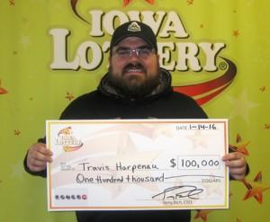 Travis Harpenau Wins $100,000 Prize