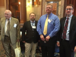Representative Todd Prichard had a nice visit with some local dignitaries with the League of Cities including Mayor Jim Erb, Steve Diers, & Michael Hammond.