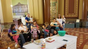 North Iowa moms were at the state capitol breastfeeding Friday - the event was pre-approved to be held at the capitol
