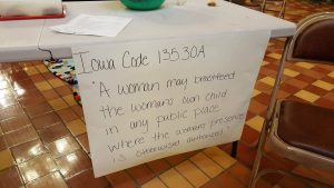 State code, posted at the event.