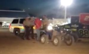 Gary Allan Chodur arrest at Mason City Motor Speedway, June 29, 2016