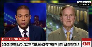 CNN's Don Lemon interviews Congressman Robert Pittenger after his remarks about black people (CNN image)