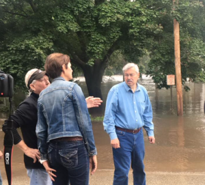 Governor Branstad's Saturday tour of flood damage in Shell Rock