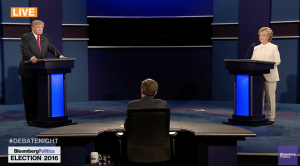 The third debate, October 19, 2016 (Bloomberg image)