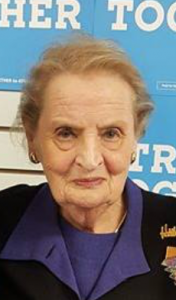 Former secretary of state Madeleine Albright was in Mason City Tuesday evening, October 18 to campaign for Hillary Clinton.