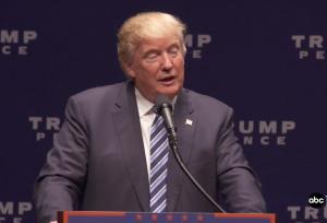 ABC News image of Trump's speech