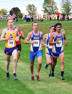 Photo of Colby Kraninger, Jose Aguilera and Blake Keller at the Loras College Invitational in Dubuque last Friday.