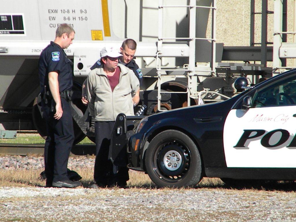 Ciska cuffed and taken to jail