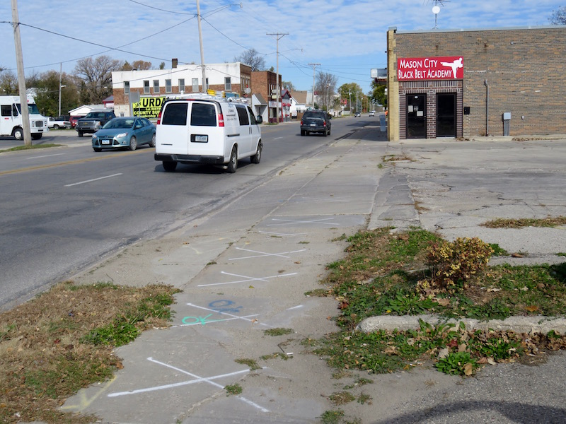Some of the sidewalks slated for repair
